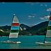 Catamarans sur le Lac de Castillon by Zhaouillee (Dosithee Deed) - St. Julien du Verdon 04170 Alpes-de-Haute-Provence Provence France