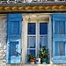 Fenêtre aux volets bleu à Saint-Maime by Margotte apprentie naturaliste 2 - St. Maime 04300 Alpes-de-Haute-Provence Provence France