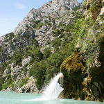 Waterfall, Verdon Gorge par spencer77 - Sainte Croix du Verdon 04500 Alpes-de-Haute-Provence Provence France