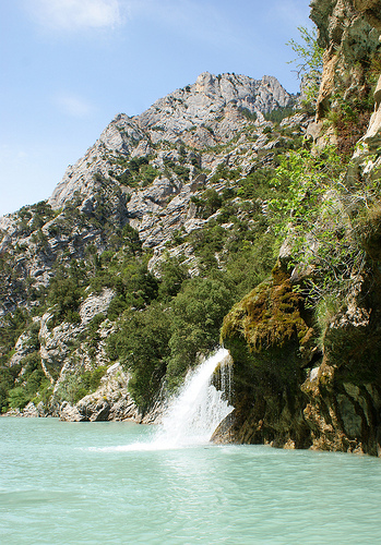 Waterfall, Verdon Gorge by spencer77
