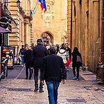 Rue piétonne au centre d'Aix by Eduardo Guerra Claros - Aix-en-Provence 13100 Bouches-du-Rhône Provence France