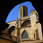 St Sauveur Cathedral from the cloisters by  - Aix-en-Provence 13100 Bouches-du-Rh&ocirc;ne Provence France