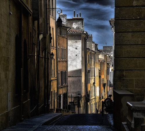 Street in Aix by STINFLIN Pascal