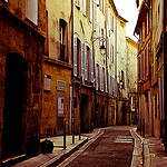 Rue provencale d'aix by  - Aix-en-Provence 13100 Bouches-du-Rh&ocirc;ne Provence France