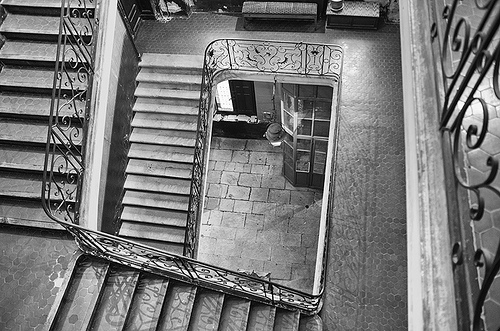 Stairwell in an old house par dominique cappronnier