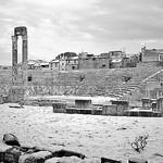 Théâtre antique d'Arles sous la neige by  - Arles 13200 Bouches-du-Rhône Provence France
