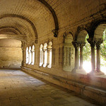 Abbaye de Montmajour : gallery of the cloisters by cefran_other - Arles 13200 Bouches-du-Rhône Provence France
