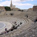 Le théâtre antique d'Arles par Dominique Pipet - Arles 13200 Bouches-du-Rhône Provence France