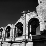 The Arles Amphitheatre - Les arches de l'Arènes by . SantiMB . - Arles 13200 Bouches-du-Rhône Provence France