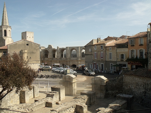 Arles view towards ampitheatre by george.f.lowe