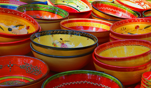 Provencal bowls - ceramic dishes by fiatluxca