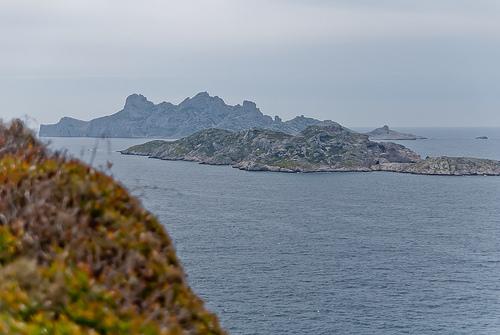 Ile de Jarre et ile Calseraigne vue depuis Callelongue by DB  Photography