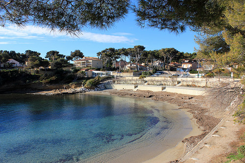 La Buvette Chez Eliane et la Plage de Cap Rousset par Bernard Bost