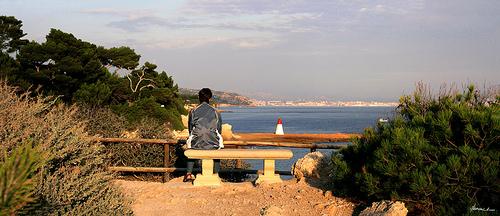 Pause en admirant le paysage by alain bordeau 2