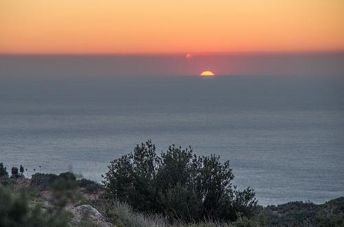 Couché de soleil sur la route des crêtes par feelnoxx