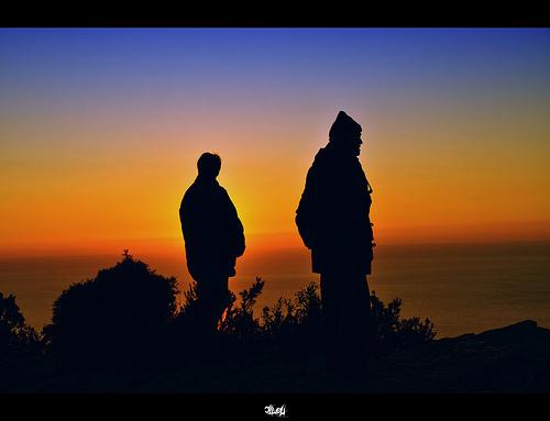 Balade au coucher du soleil by Cilou101