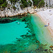 Plage de la Calanque d'En-vau et son eau turquoize par  - Cassis 13260 Bouches-du-Rh&ocirc;ne Provence France