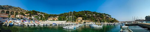Panoramique du port et de la baie par alalchan