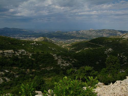 Marseille vue du col de l'Espigoulier par Ackteon