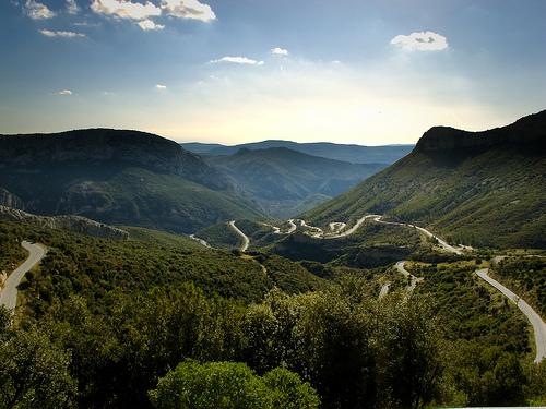 Route menant au col de l'Espigoulier par gantoo