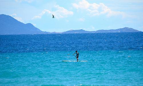 Bonheur en bleu... Paddleboard par FranceParis92