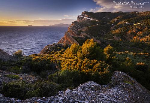Couché de soleil sur la côte d'azur par Sébastien Sirvent Photographie
