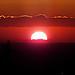 Coucher de soleil sur le Canigou depuis la chaîne des Côtes par bruno Carrias - La Roque d'Antheron 13640 Bouches-du-Rhône Provence France