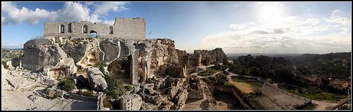 Panoramique sur Les beaux de Provence par Alexandre Santerne