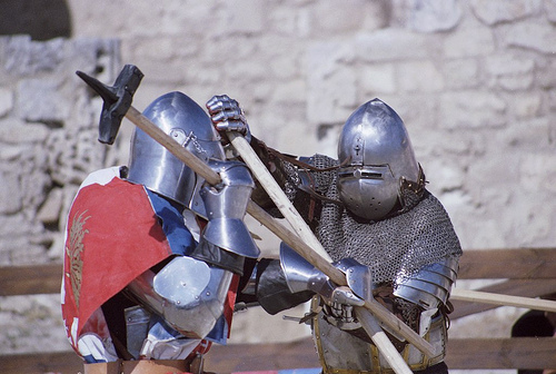 Duel médieval - Médiévales des Baux de Provence by Zakolin