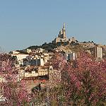 Notre Dame de la Garde vu depuis le Fort Saint-Jean par Meteorry - Marseille 13000 Bouches-du-Rhône Provence France