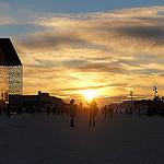Coucher de soleil - Spectacle de fin de journée à Marseille la Joliette par sabinelacombe - Marseille 13000 Bouches-du-Rhône Provence France