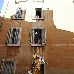 Vierge Marie - Procession du 15 aout dans le quartier du Panier by  - Marseille 13000 Bouches-du-Rhône Provence France