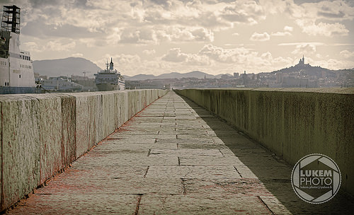 Docks de marseille - port de marchandises by lukem-photo
