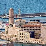 Fort Saint Jean vu depuis Notre-Dame-de-la- Garde par ma_thi_eu - Marseille 13000 Bouches-du-Rhône Provence France