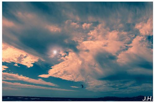 Nuit sur la Rade Sud - Ciel inspirant by J oSebArt's Pictures