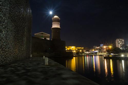 Fort Saint-Jean - Marseille by night par Lionel Colomb