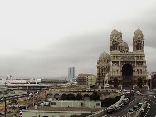 La Major, jour de pluie, Marseille par roderic alexis beyeler