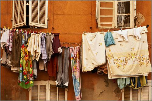Marseille rustique : linge à sécher by jenrif