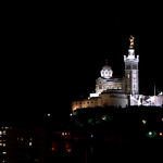 Marseille / Notre-Dame de la Garde de nuit... by  - Marseille 13000 Bouches-du-Rh&ocirc;ne Provence France
