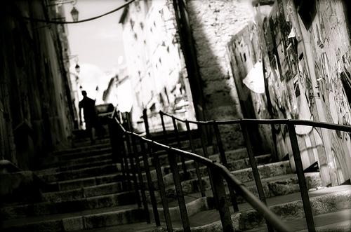 Marseille, public stairs by bluerockpile