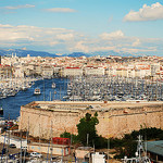 "Marseille Harbor panorama ""vieux port"" by Laurice Photography - Marseille 13000 Bouches-du-Rhône Provence France"