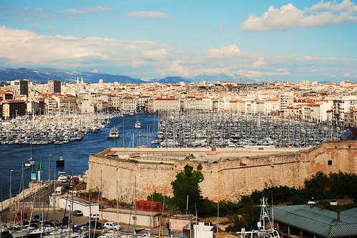 "Marseille Harbor panorama ""vieux port"" par Laurice Photography"