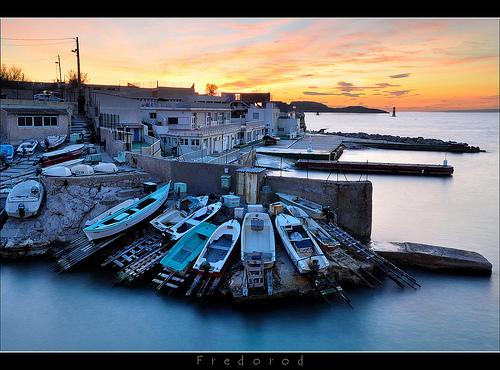 Anse de Malmousque, petit port de Marseille par Fredorod