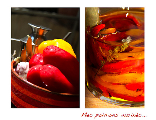 Poivrons marinés... homemade marinated peppers by Fanette13