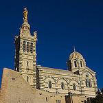Notre Dame de la Garde : Facing the sun by  - Marseille 13000 Bouches-du-Rhône Provence France