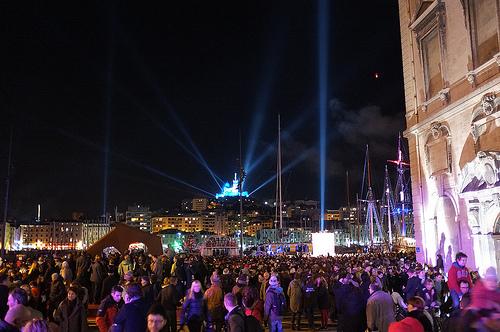 Notre Dame de la Garde drapée de lumière - Marseille 2013 : Opening Night by polbar