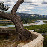 Bench with a beautiful view over the Rhone by  - Orgon 13660 Bouches-du-Rhône Provence France