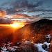 Coucher de soleil depuis le Baou Nègre par bruno Carrias - Puyloubier 13114 Bouches-du-Rhône Provence France