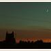 Ciel de fin de reigne et petite lune par  - Puyricard 13540 Bouches-du-Rhône Provence France
