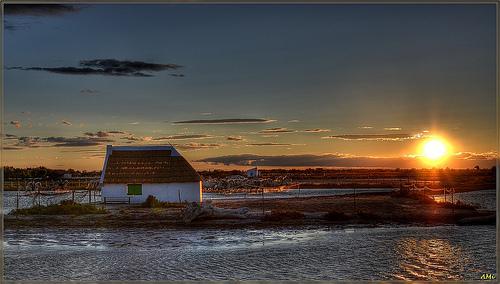 Sunset - Songe d'une nuit en Camargue by amcadweb